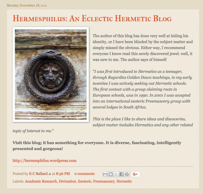 Screen shot Hermesphilus Review Hedge Mason